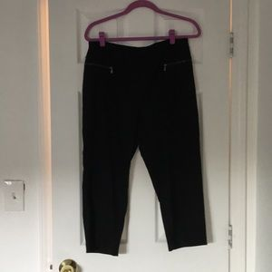 Style and Co. black cropped pants